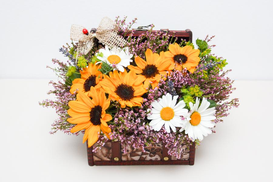 Aranjament Floral Aniversar Floarea Soarelui 1 Surprize